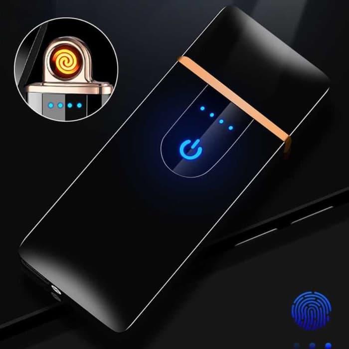 Korek api elektrik Mini Unik Fingerprint Sensor LED ...
